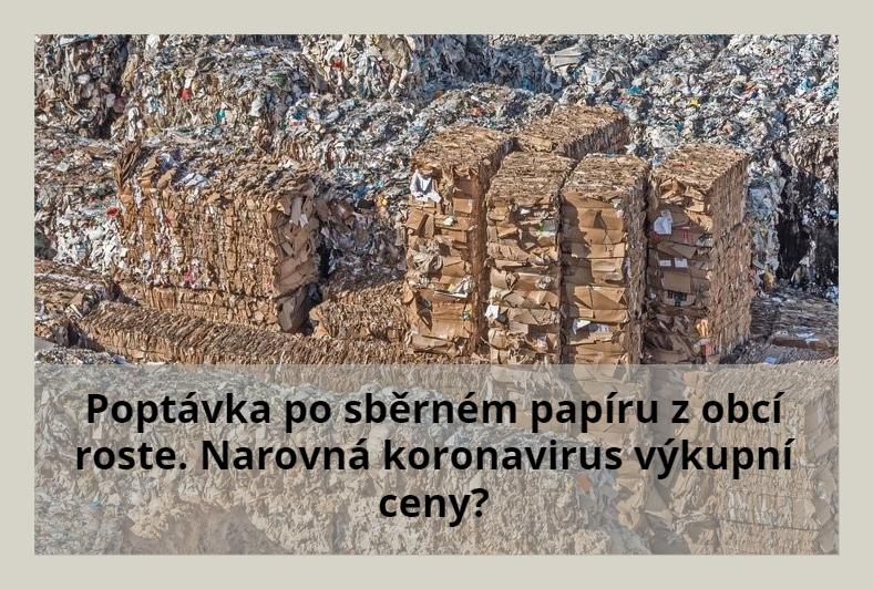 Image for Poptávka po sběrném papíru z obcí roste. Narovná koronavirus výkupní ceny?